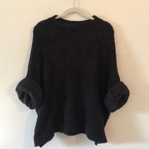Free People Cuddle Up oversized black sweater M